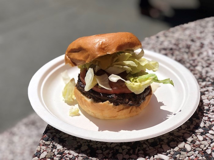 A classic burger is made with a fresh patty of Alberta beef, replacing previous frozen iterations. Photo by Lindsay William-Ross/Vancouver Is Awesome