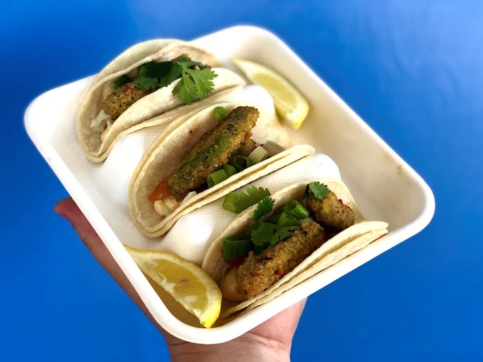Avocado tacos are a vegetarian option easily made vegan. It's part of the plan to expand the plant-based offerings at concession stands. Photo by Lindsay William-Ross/Vancouver Is Awesome
