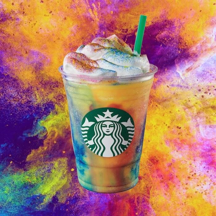 The Tie Dye Frappuccino. Photo courtesy Starbucks Canada