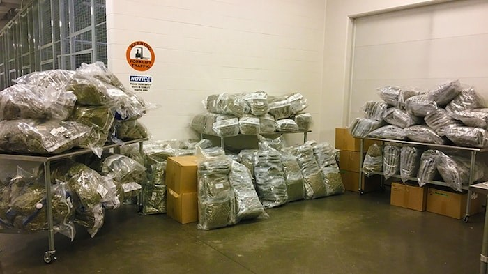The products seized June 18 when the search warrants were executed. Photo courtesy