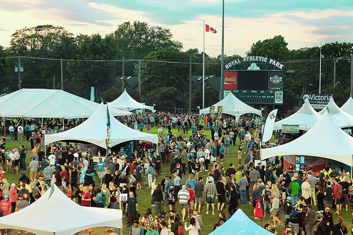 The Great Canadian Beer Festival returns to Victoria's Royal Athletic Park, Sept. 6 and 7, 2019. Photo courtesy Great Canadian Beer Festival