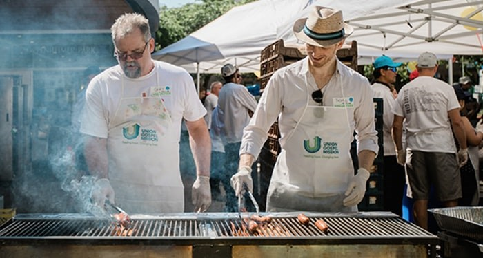 Up to 4,000 hamburgers will be grilled at the UGM Summer BBQ. Photo: Andrew Taran/UGM