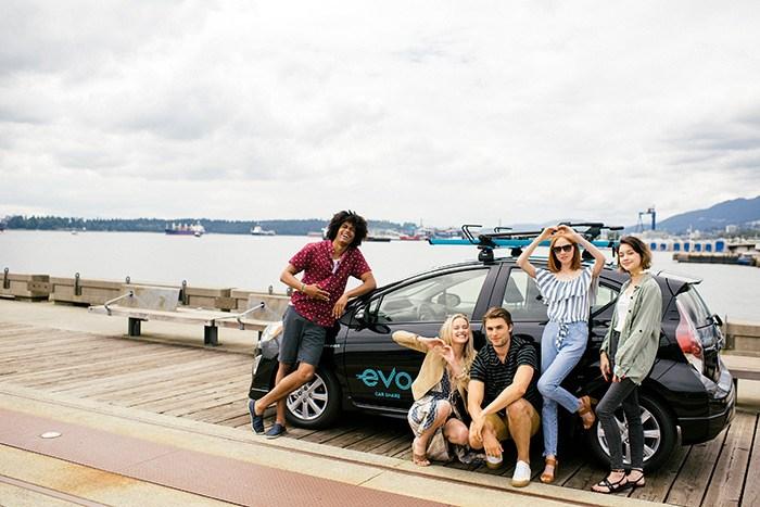 Evo is car sharing made for festival life. Take your Evo up the sea-to-sky to enjoy three days of food art and music at Squamish Constellation Festival. Gas, insurance and parking included! Photo: Evo Car Share
