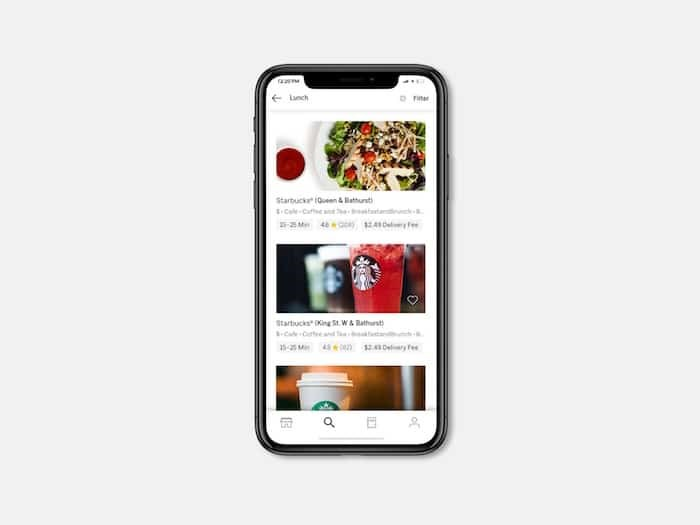 There's an app for that. Beginning this summer, coffee loves will be able to enjoy their Starbucks products almost anywhere by using the Uber Eats app. Photo: Starbucks Canada