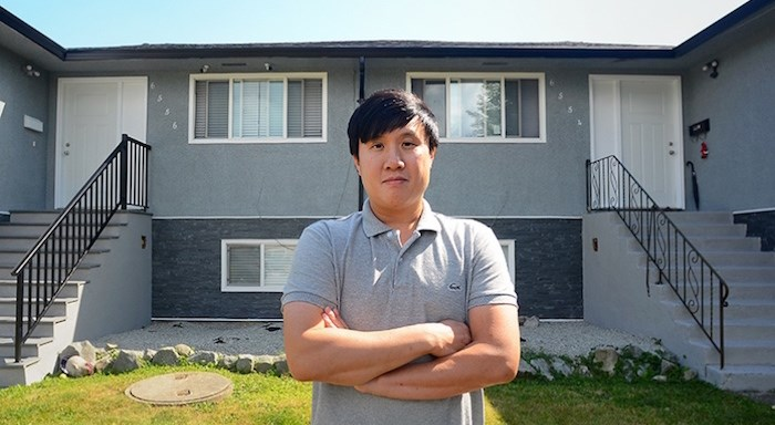 Jason Chow says the city is leaving him with no choice but to evict tenants from his North Burnaby duplex. Photo by Cornelia Naylor/Burnaby NOW