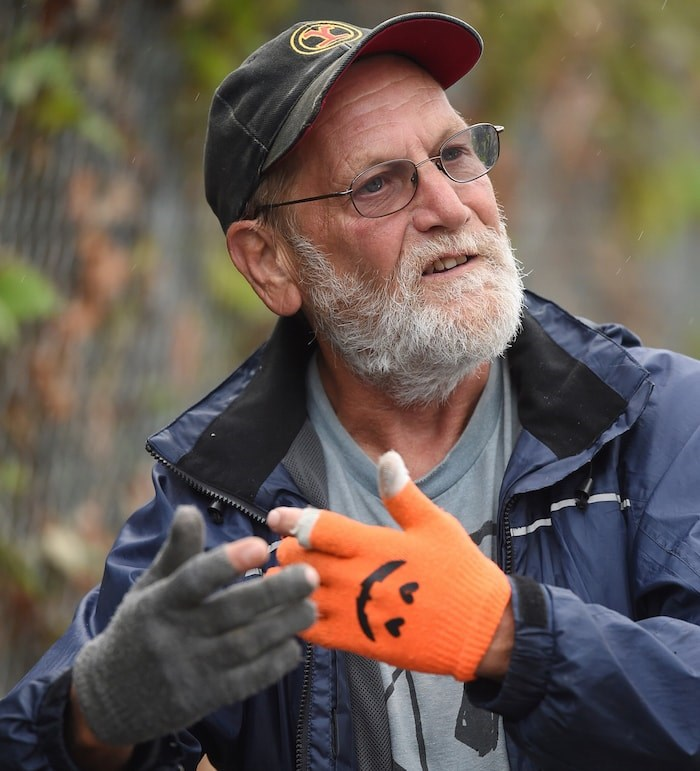 Charles Bafford during his rounds. Photo by Dan Toulgoet/Vancouver Courier