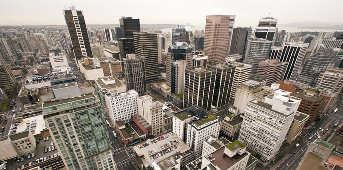 Downtown Vancouver buildings/Shutterstock