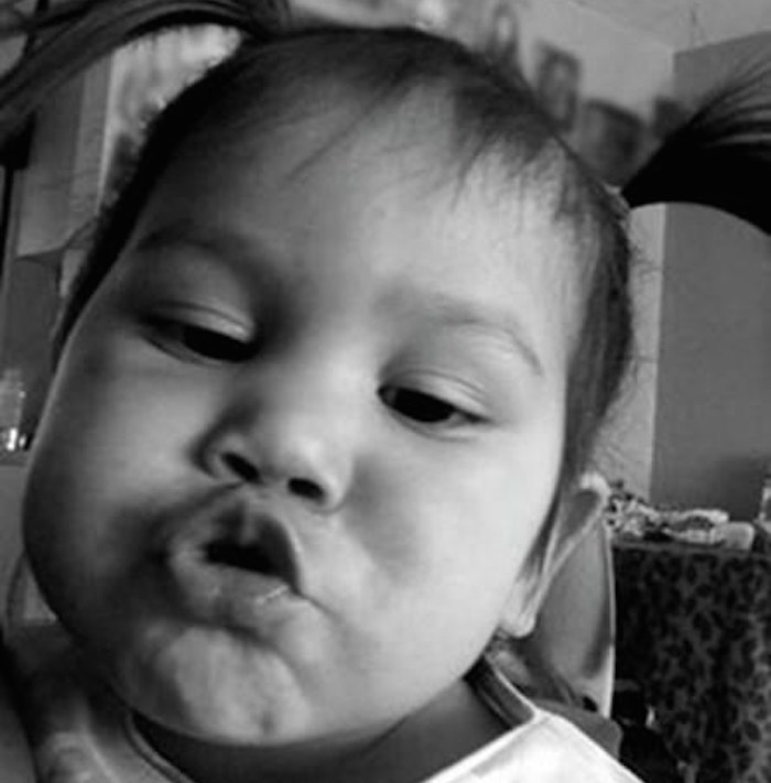 Two-year-old Aleka Esa-Bella Scheyk Gonzales is seen in this undated handout photo. A British Columbia man has pleaded guilty to one count of failing to provide the necessaries of life for the death by snake venom of two-year-old Aleka. THE CANADIAN PRESS/HO, Venessa Gonzales