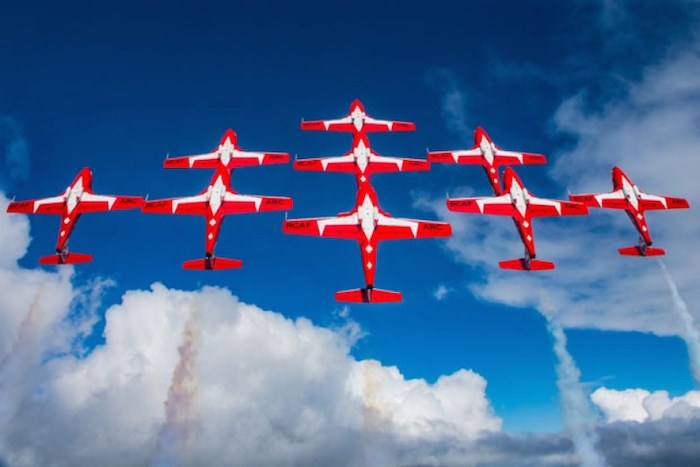 The Snowbirds are coming to perform Saturday. Photo courtesy City of Delta/Alpha Aviation
