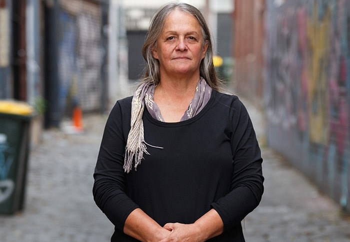 Australian Indigenous artist/activist Vicki Couzens (Gunditjmara) will be the first international artist-in-residence in the Blue Cabin Floating Artist Residency program from Sept. 15 to Oct. 31. Photo: Supplied