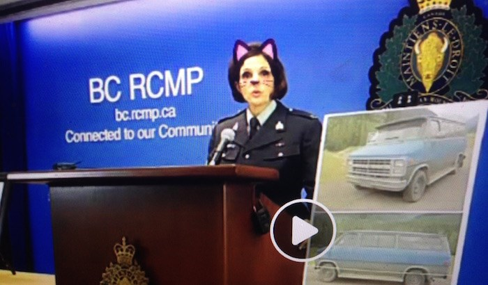 Screenshot/BC RCMP on Facebook Live
