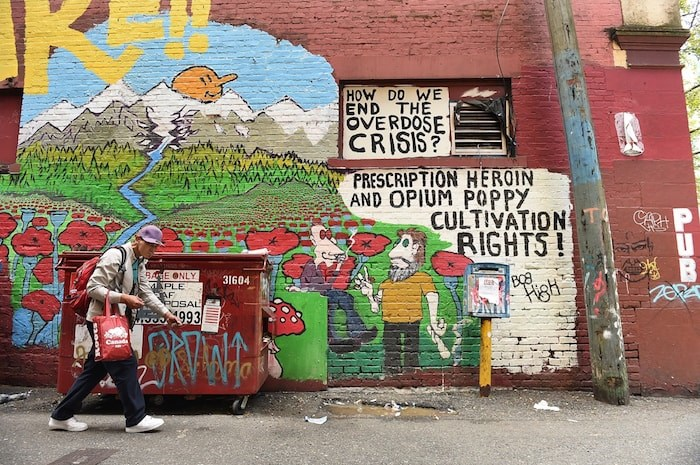 Bob High's murals often carry a political message. Photo by Dan Toulgoet/Vancouver Courier