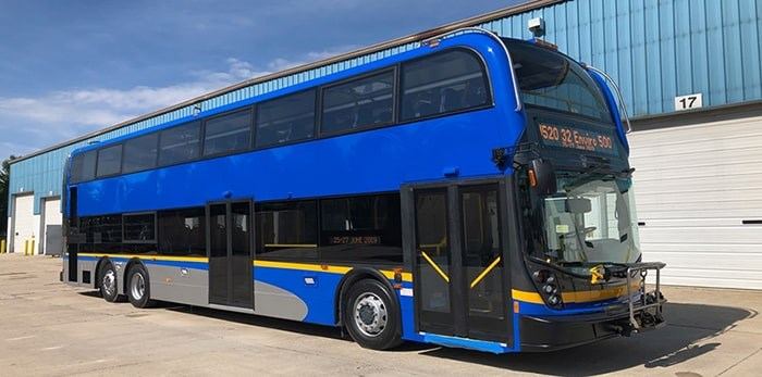 You'll be able to ride a double-decker TransLink bus this fall. Photo: TransLink Facebook