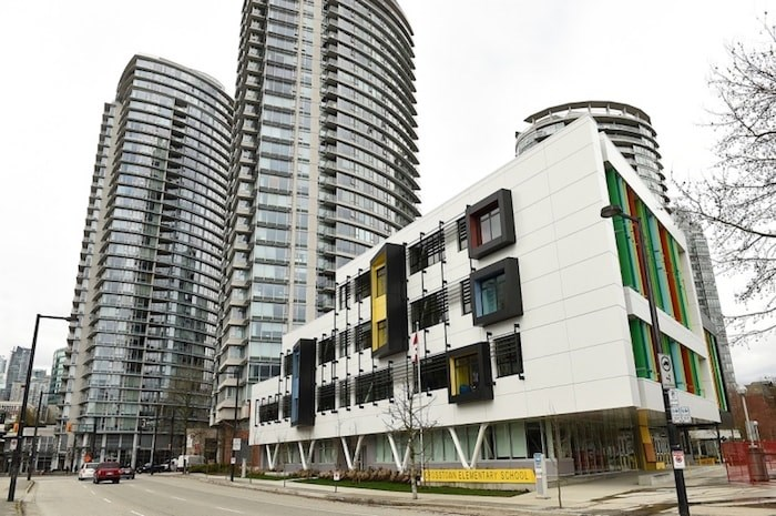 Crosstown elementary in Vancouver opened in 2017 and features a full gymnasium, an unwalled-library and a rooftop outdoor space. File photo/Glacier Media