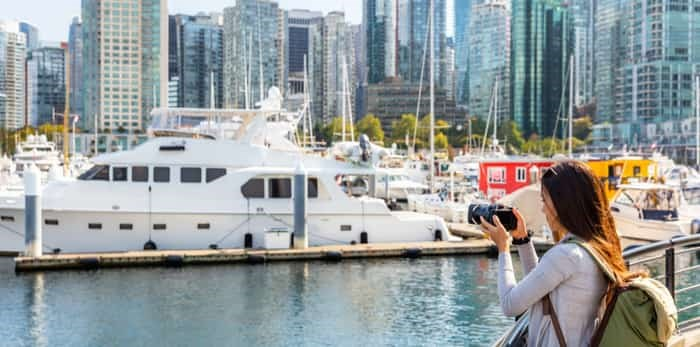 Photo: Female tourist in Vancouver takes photos / Shutterstock