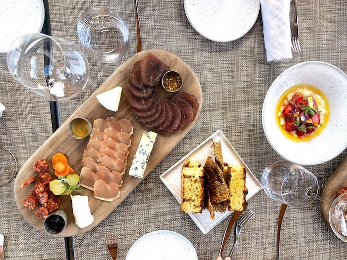 Among the offerings at the Terrace Restaurant at Mission Hill is a charcuterie platter featuring house-cured B.C. meats, and locally-sourced fresh cheese. Photo by Lindsay William-Ross/Vancouver Is Awesome