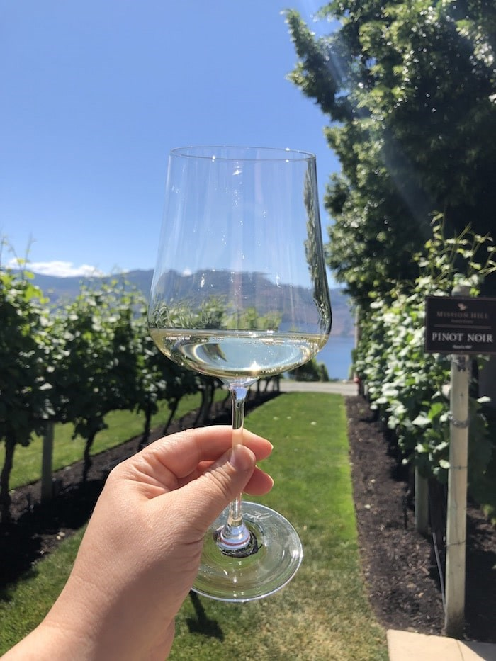 Sampling an Estate wine at Mission Hill. Photo by Lindsay William-Ross/Vancouver Is Awesome