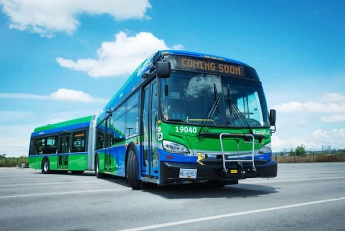 Burnaby riders will have to look for this new colour scheme for the RapidBus program. Photo: TransLink