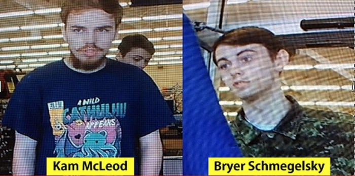 Kam McLeod & Bryer Schmelgesky are connected to the Dease Lake and Alaska Highway homicides in northern B.C. Photo courtesy BC RCMP