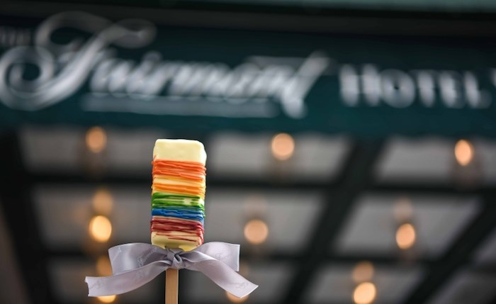 An ice cream pop-up shop at Notch8 at Fairmont Hotel Vancouver is serving rainbow ice cream bars until Aug. 3. Photo courtesy Fairmont Hotel Vancouver