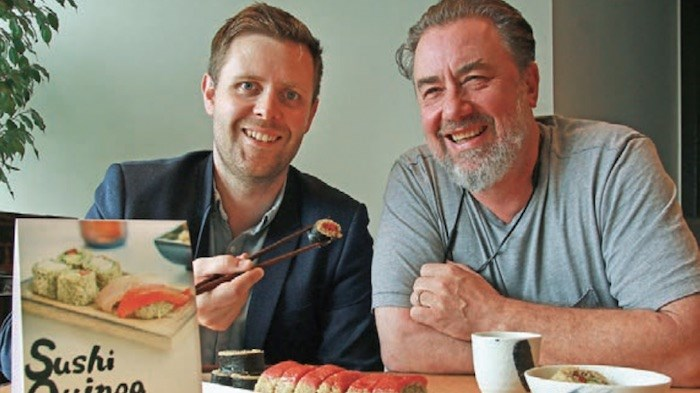 Blair Bullus and Fraser Rieche are marketing a tomato-based tuna replacement for sushi. Photo by Rob Kruyt/Business In Vancouver