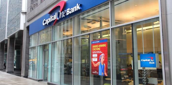 Capital One Bank branch on June 10, 2013 in New York/ Shutterstock