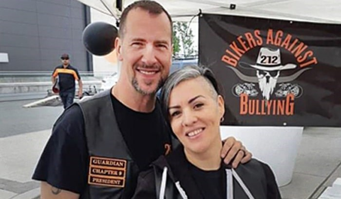 Burnaby residents David Toner and Sandie Martins have started a Bikers Against Bullying burnaby chapter. Source: Bikers Against Bullying