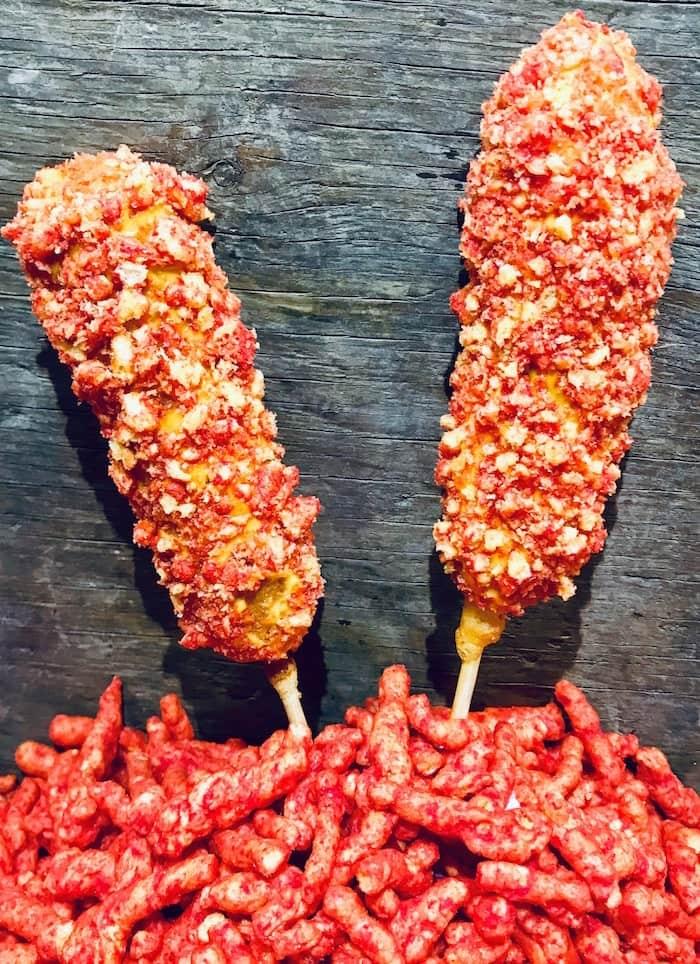 Flamin' Hot Cheetos Corndogs. Photo courtesy PNE