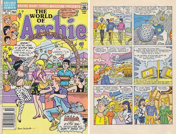 Archie Andrews visited Expo 86. Read the entire comic book for free