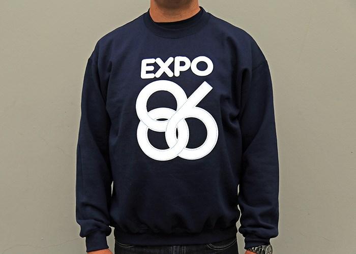 The best EXPO 86 sweatshirt ever. Photo Bob Kronbauer