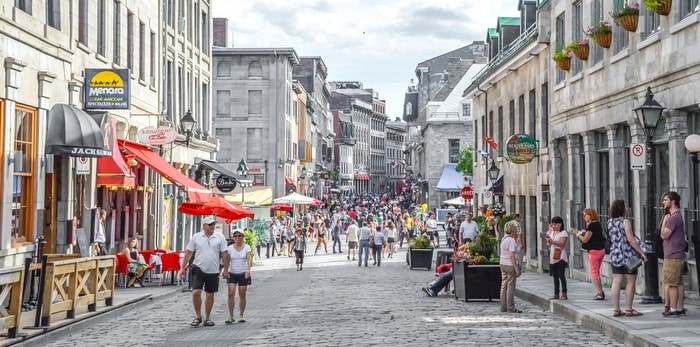 Strolling the streets of Old Montreal. BakerJarvis / Shutterstock.com