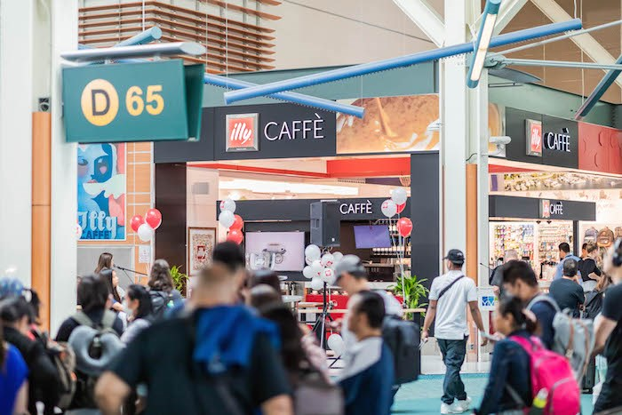 Vancouver International Airport (YVR) celebrates the grand opening of the new full-service illycaffè. Photo courtesy YVR Airport