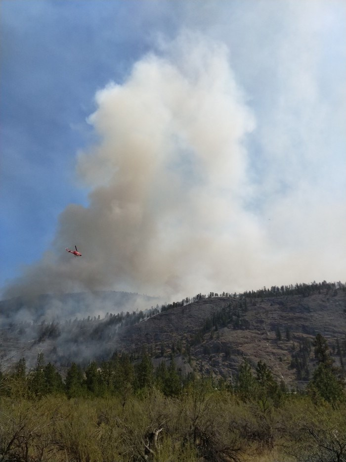 Battling the Eagle Bluff Fire.