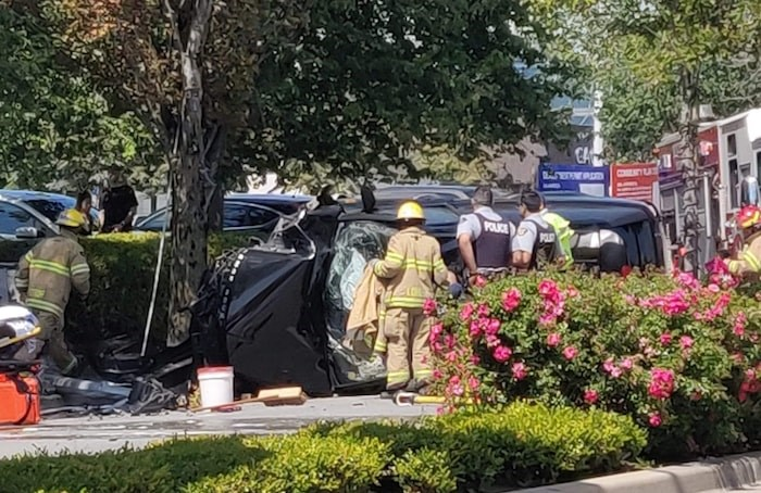 A car accident sent several individuals to the hospital on Tuesday, August 6. Photo submitted by Kevin Nguyen