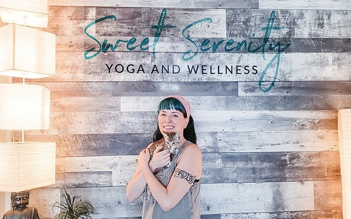 Sweet Serenity Yoga and Wellness is hosting the Cat Yoga session on Sunday, Aug. 11.