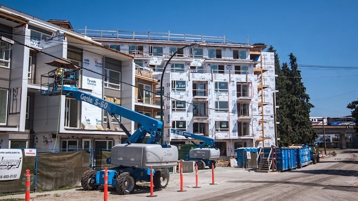 Cressey has shifted its business plan to build rental buildings, such as the Conrad, which is now under construction at 3365 Commercial Drive. Photo by Chung Chow/Business In Vancouver