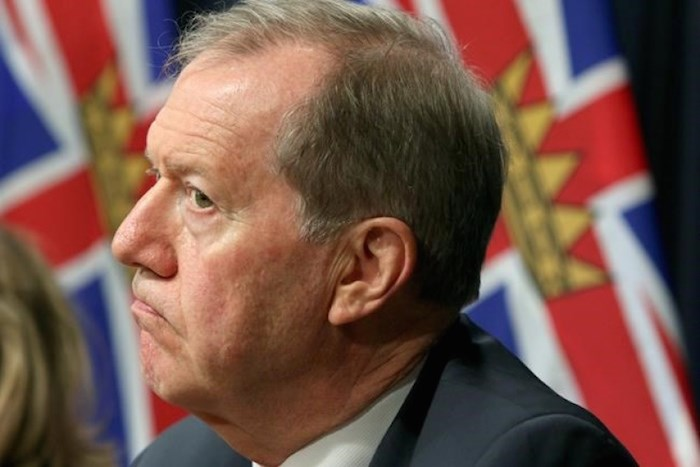 Former RCMP assistant commissioner Peter German looks on at a press conference on money laundering at the legislature in Victoria, B.C., on Thursday, May 9, 2019. Police should be able to provide some answers to the families of the British Columbia homicide victims and the public after discovering the two suspects dead, says German. THE CANADIAN PRESS/Chad Hipolito