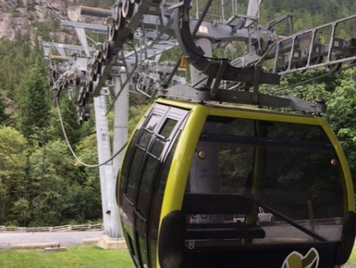 The Sea to Sky Gondola is closed until further notice after its cable and cabins dropped overnight on Aug. 10. Photo courtesy Kirby Brown