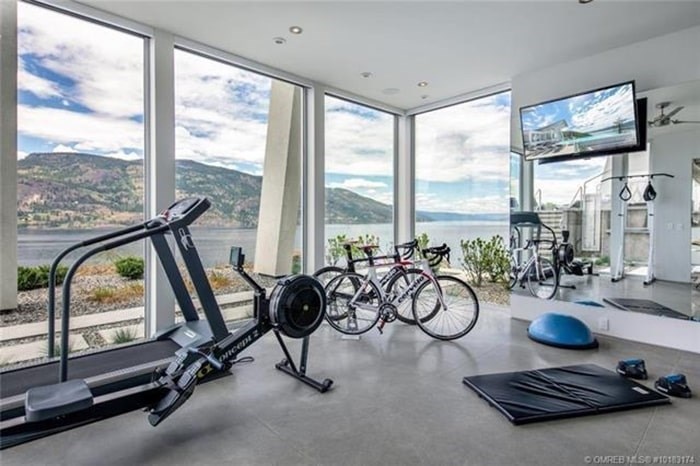 The home has a gym with an inspiring view. Listing agent: Richard Deacon