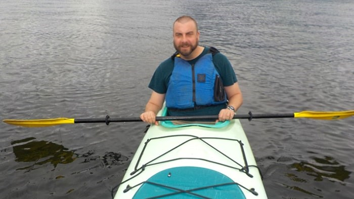 Chris says going kayaking and doing other summer adventure activities has helped him see a different future for his life. Photo submitted