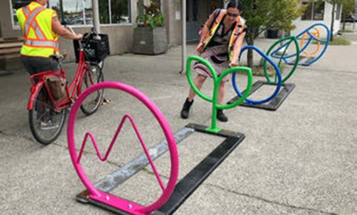 A little more colour will be added to the streets of Vancouver with the installation of funky bike racks designed by residents. Photo: City of Vancouver