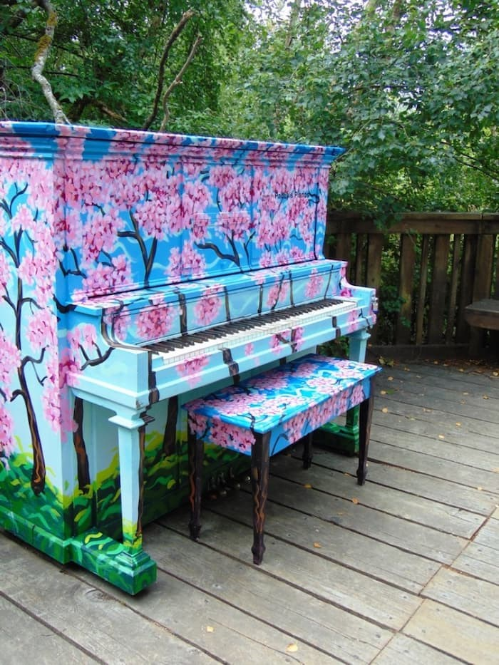 The Pianos on the Street program brings artfully designed pianos to unexpected outdoor public places including the Richmond Nature Park. Photo submitted