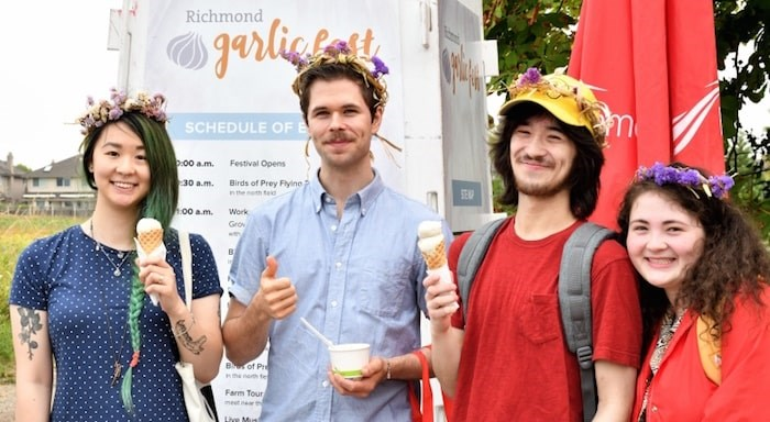 Garlic ice cream will return to the Garlic Festival Aug. 18 through a partnership between the Sharing Farm and Earnest Ice Cream. Submitted photo