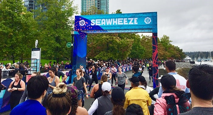 Lululemon's annual SeaWheeze Half Marathon and Sunset Festival takes place this weekend. Photo: Lululemon Facebook