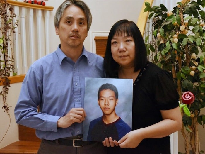 Samson and Chelly Wong are making a plea for information in the 2018 shooting that killed their 15-year-old son Alfred. Photo courtesy Vancouver Police Department