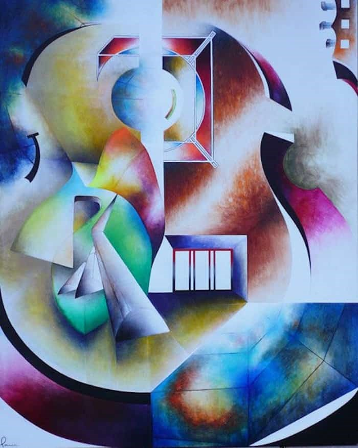 Painting by Andres Parra. Photo: Carlos Parra