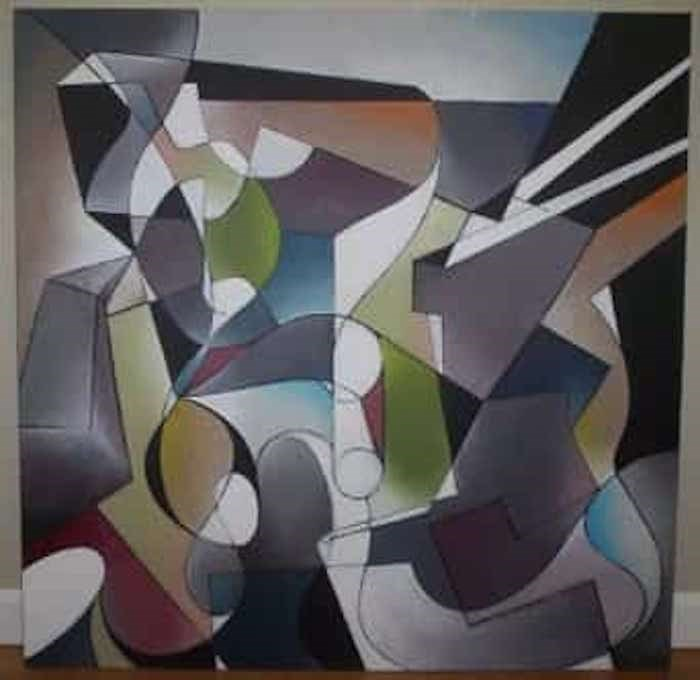 Painting by Andres Parra Photo: Carlos Parra