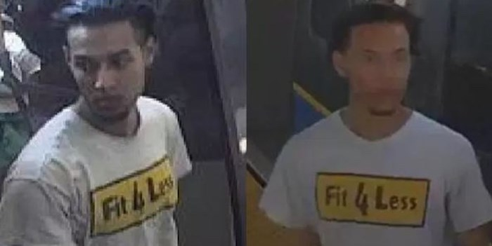 The suspect in an alleged groping on a Burnaby SkyTrain is described as a South Asian or possibly mixed-race man in his early-to-mid 20s, between five-foot-seven and five-foot-nine in height and roughly 160 pounds. Screenshot/Metro Vancouver Transit Police