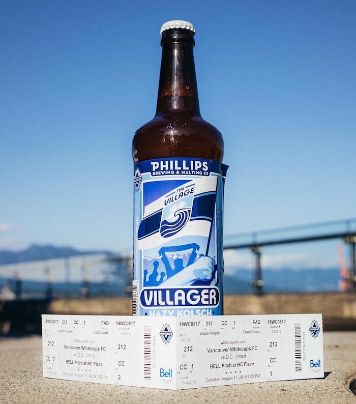 The Villager is the Vancouver Whitecaps FC's collab brew with Phillips. Photo courtesy Vancouver Whitecaps