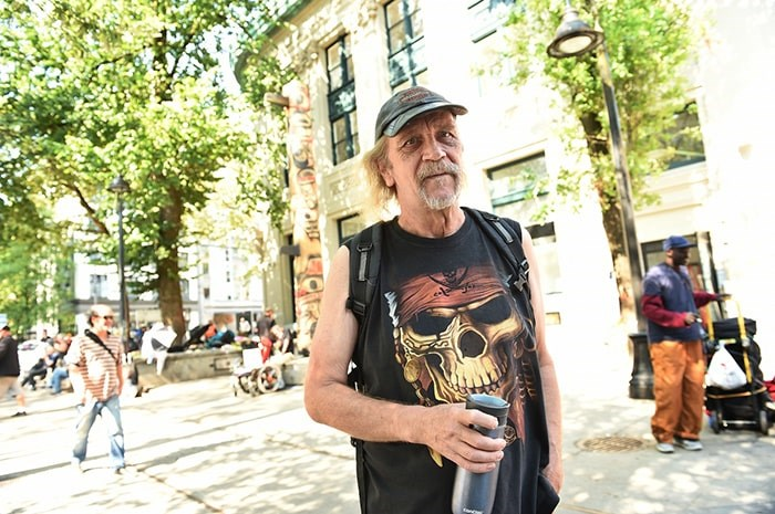 Michael Leland has lived in the Downtown Eastside for more than 20 years. He's led more than 40 tourists out of the neighbourhood this summer alone over concerns for their safety. Photo: Dan Toulgoet